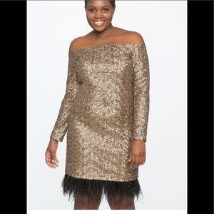 Gold Eloquii Party Dress